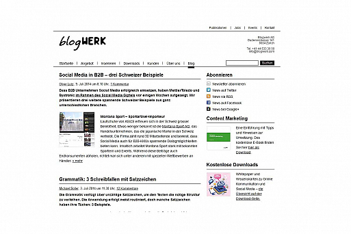 Website blogWERK