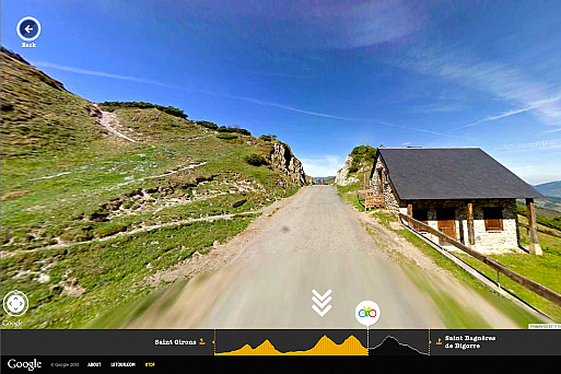Map of the Week, Tour de France, Google Maps Street View